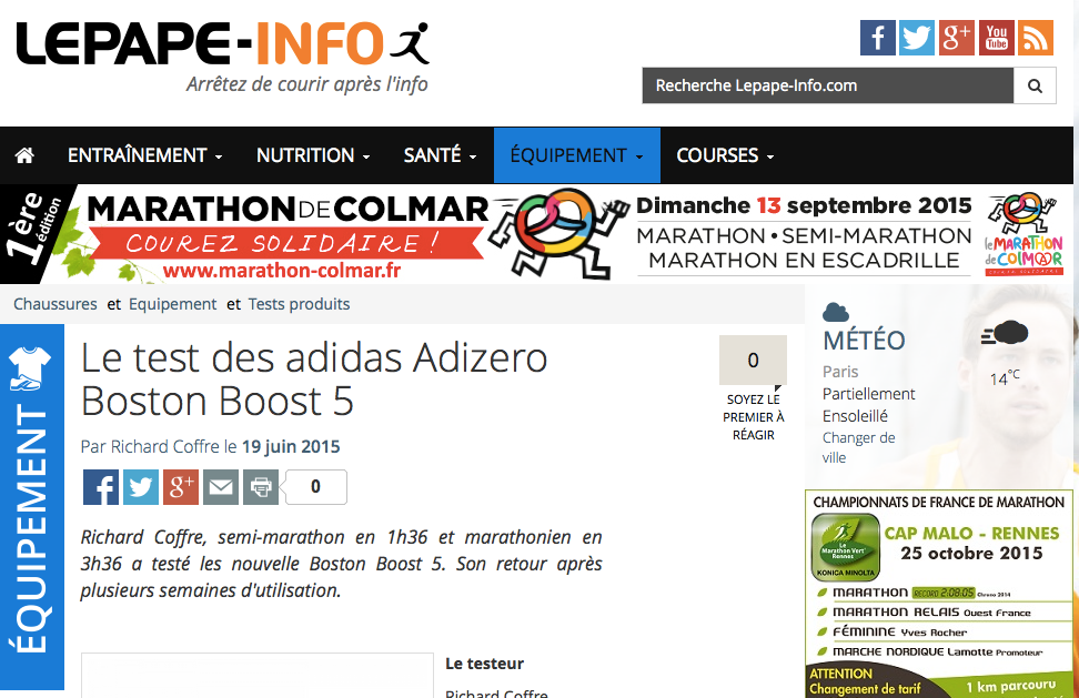 test] adidas Adizero Boston Boost 5 | :